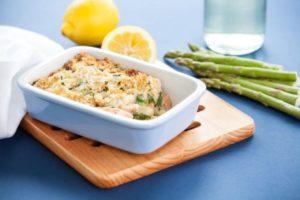 Salmon & Asparagus Gratin