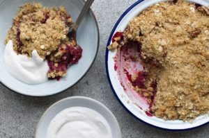 Apple & Blackcurrant Crumble