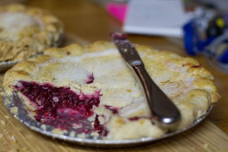 Gluten Free Bramley Apple & Raspberry Pie