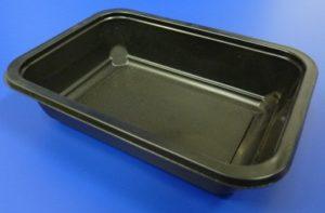 black ready meal tray