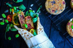 Spicy Quinoa, Beetroot & Edamame Burger